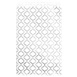 "Shimmering Trellis Design Pattern Flat Paper Bags - 6"" x 9"" - 100Bags/Pack"