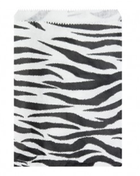 "Zebra Pattern Paper Bags - 8 1/2"" x 11"" - 100Bags/Pack"