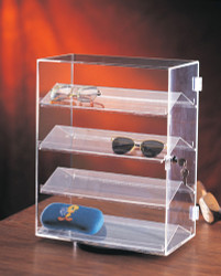 4 Removable slanted shelf acrylic case