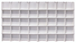 White Faux Leather 40 Section Deluxe Tray Insert