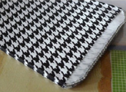 Houndstooth Pattern Paper Bags - 100Bags/Pack