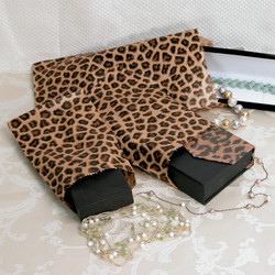 Leopard Pattern Paper Bags - 100Bags/Pack