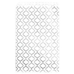 "Shimmering Trellis Design Pattern Flat Paper Bags - 4"" x 6"" - 100Bags/Pack"