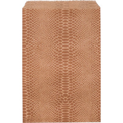 """Snake Pattern Paper Bags - 4"""" x 6"""" - 100Bags/Pack"""