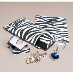 Zebra Pattern Paper Bags - 100Bags/Pack