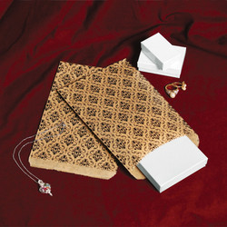 Damask Pattern Paper Bags - 100Bags/Pack