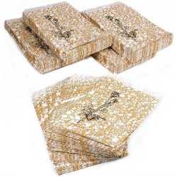 Gold Tone Paper Bags - 100Bags/Pack