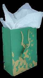 Green Kraft Butterfly Tote Bag - 10Bags/Pack