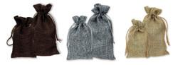 Burlap Fabric Drawstring Bags