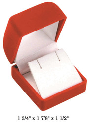 Soft Flocked Velour Earring Box (Square Shape)