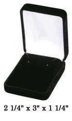 Classic Black Velvet Earring Gift Box