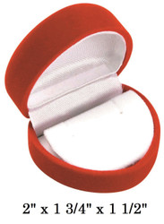 Soft Flocked Red Velour Heart Earring Gift Box