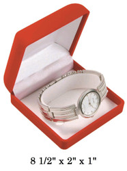 Soft Flocked Velour Bangle/Watch Box