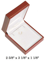 Earring/Pendant w/clasp CR Leatherette Box (R,W)