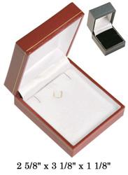 Earring/Pendant w/clasp CR Leatherette Box (BK,W)