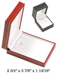 Black Large Pendant w/White Satin interior Classic Leatherette Box