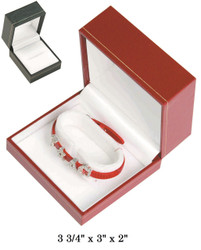 Bangle/Watch CR Leatherette Box (BK,W)