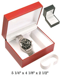 Black/White Double Watch Classic Leatherette Box