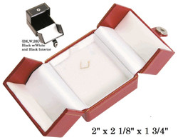 Small Pendant Snap-Tab Leatherette Box (BK,W,BK)