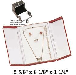 Black/White Combination Set Snap-Tab Leatherette Box