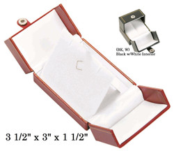 Black Large Pendant Snap-Tab Leatherette Box