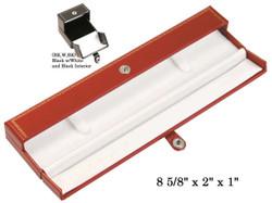 Bracelet/Watch Snap-Tab Leatherette Box (BK,W,BK)