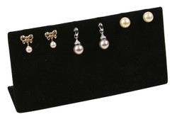 Black Slotted Earring Display for up to 3 Pairs.