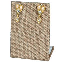 Burlap Fabric Single Rectangular Earring Display