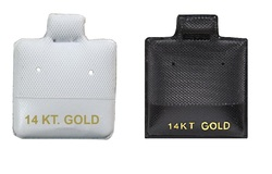 """14 KT. Gold"" Printed Vinyl Puff Pads"