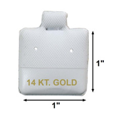 """14 KT. Gold"" Printed White Vinyl Puff Pads - 1"" x 1"""