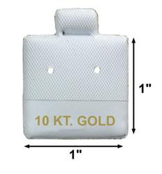 """10 KT. Gold"" Printed White Vinyl Puff Pads - 1"" x 1"""