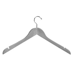 "17"" Suit Hanger - Natural Wood - 10 Pcs"