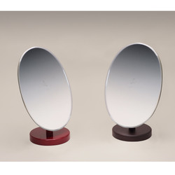 Wooden Oval Glass Mirror