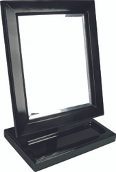 Wooden Frame Mirror with small tray on Base.