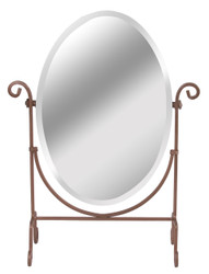 Adjustable Mirror with Bronze Finish Metal Base (Oval)