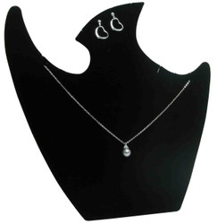 "Black 9 1/2""H Necklace Display with Easel"
