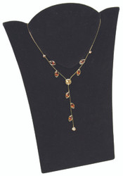 Sharp Shoulder Mini Black Necklace Display with Easel