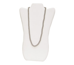 "White 14 1/8""H Necklace Display with Easel"