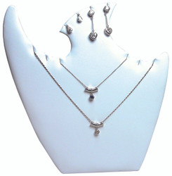 "White 9 1/2""H Necklace Display with Easel"