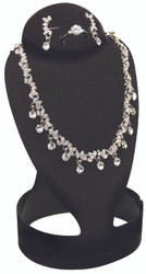 Small Black Combination Flocked Fold-able Necklace Display