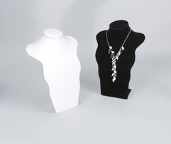 White Curved Standing Bust