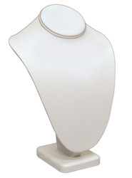 "11""H White Classic Style Necklace Display"