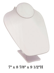 White Adjustable Stand Busts