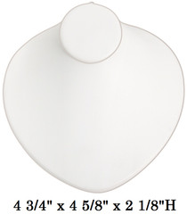 White Round Shaped Lay-Down Jewelry-Displays