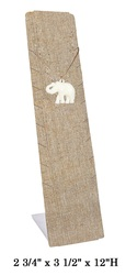 Burlap Slim & Tall Multi Necklace Display (9 Slots)