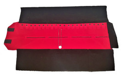"Black/Red Deluxe Velvet Jewelry Rolls - 20 Snaps (Chain) - 23 1/2"" x 9 1/4"""