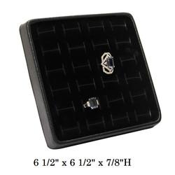 Black/Black Lightweight Multi-Ring Display Tray w/Easel