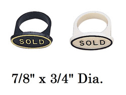 """Sold"" Ring Markers for Ring Foam (50Pcs)"