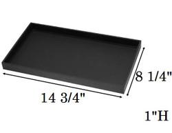 "1"" Deep Standard Black Utility Trays"