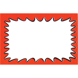"Large Paper ""Spiked Cloud"" Store Message Signs (50Pcs/Pack)- 7""W x 5 1/2""L"